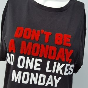Zara | NWT Don't be a Monday Graphic Tee Size M